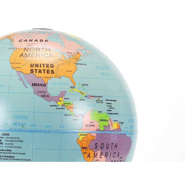 Vintage Large Simplified Cram's World Globe For Sale - Image 4 of 4