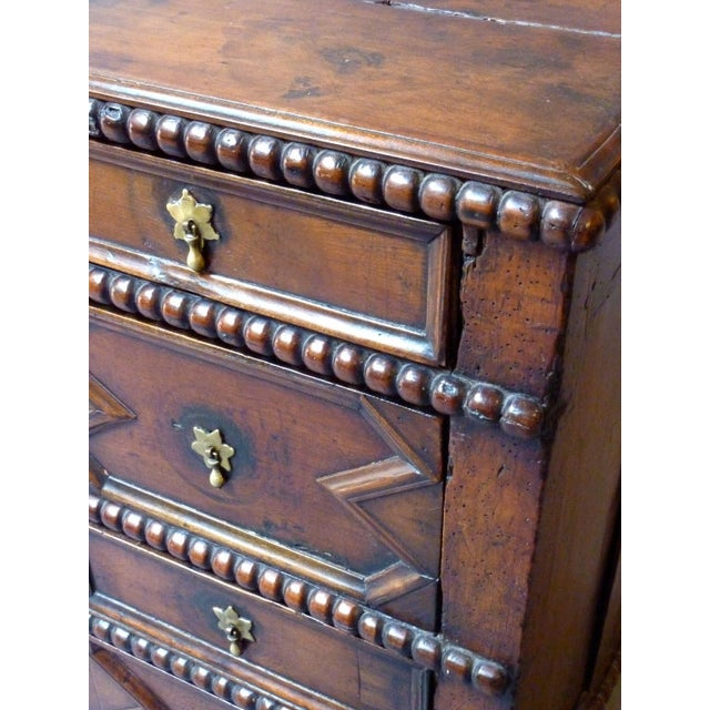 17th Century 17th Century English Moulded Chest of Drawers For Sale - Image 5 of 8