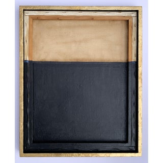 Minimal Abstract Black and Tan Framed Painting Preview