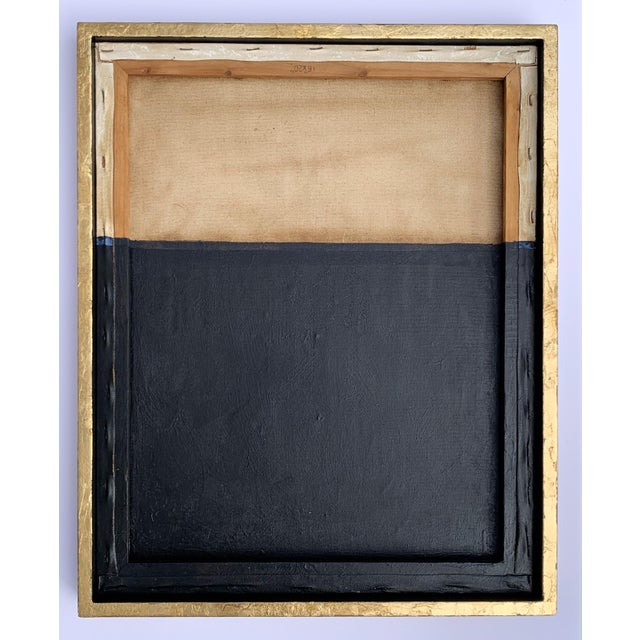 This artwork is part of an ascetic and meditative exploration of the convergence of monochromy and geometry. Framed and...
