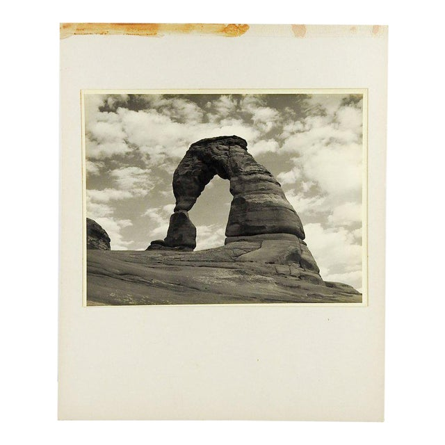 Mid-Century Modern 1950's Vintage Arches National Park Photograph For Sale - Image 3 of 4