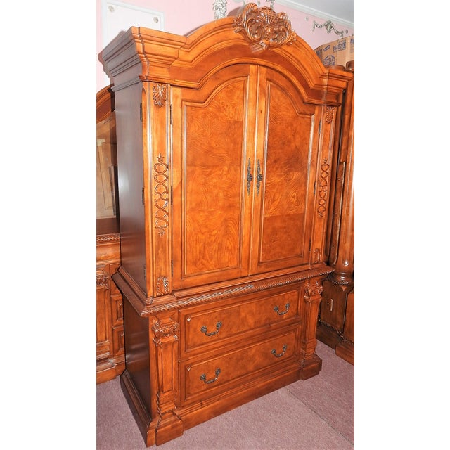 Luxury Cherry Tv Armoire & Dresser Set - Image 2 of 11