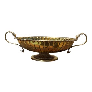 Vintage Brass Compote Dish For Sale