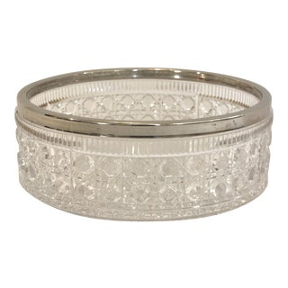 English Cut-Glass and Silver Trifle Bowl For Sale