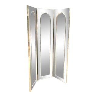 Hollywood Regency 3-Panel Floor Mirror For Sale