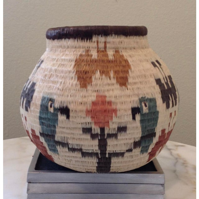 Figurative-Style Woven Wounaan Basket - Image 3 of 7