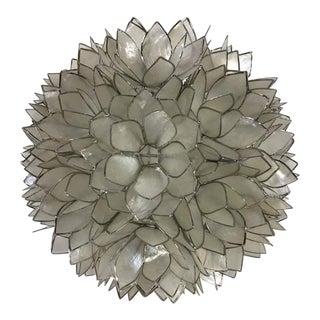 Pottery Barn Capiz Flower Pendant