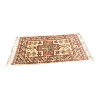 "Anatolian Milas Wool Rug - 28"" x 49"" For Sale"
