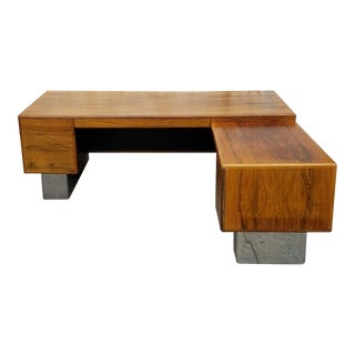 Mid-Century Rosewood Executive Desk, 1970s