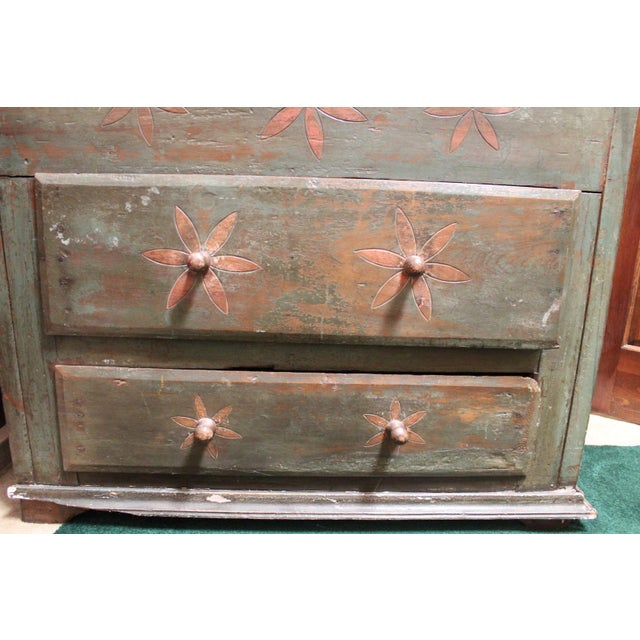 Boho Chic Vintage Distressed Brazilian Armoire For Sale - Image 3 of 11