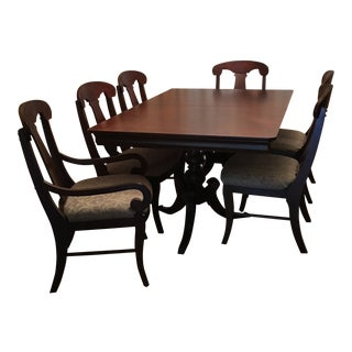 1990s Traditional Bassett Chateau Marseille Dining Set - 7 Pieces For Sale