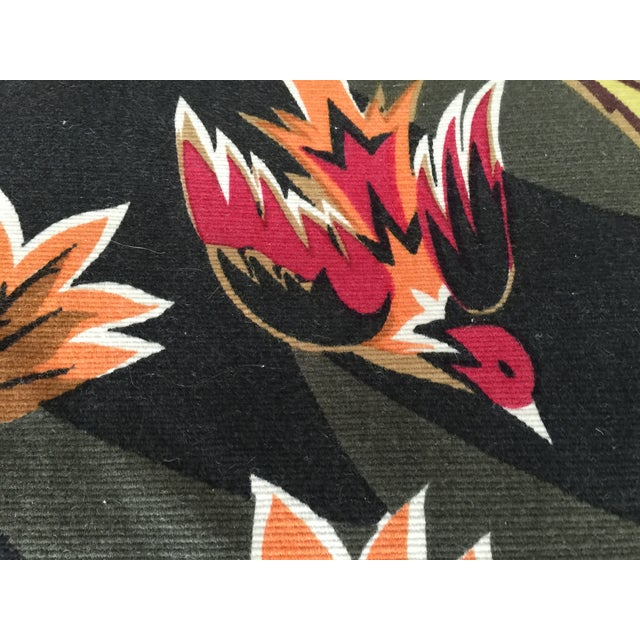 Mid Century French Wool Wall Tapestry - Image 5 of 6