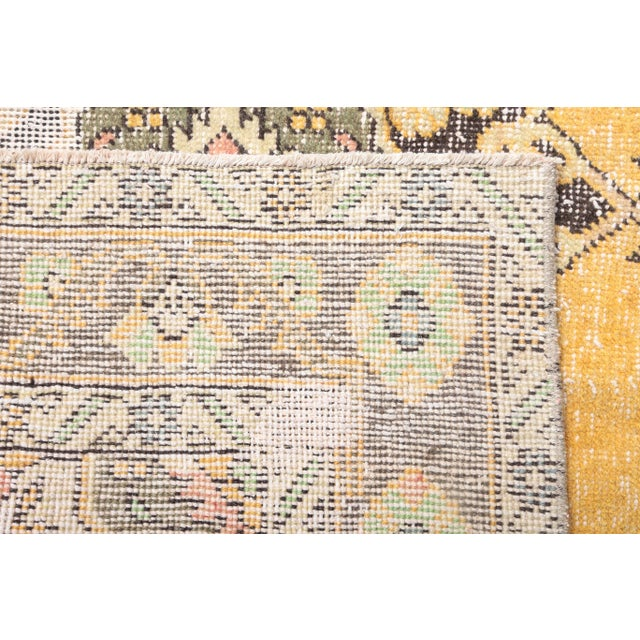 """1960's Wide Vintage Turkish Hand-Knotted Runner Rug - 5' X 12'4"""" For Sale - Image 9 of 11"""