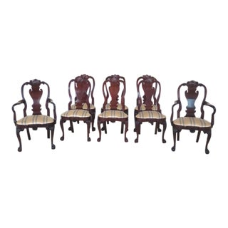Kindel Winterthur Collection Cherrywood Dining Chairs - Set of 8 For Sale