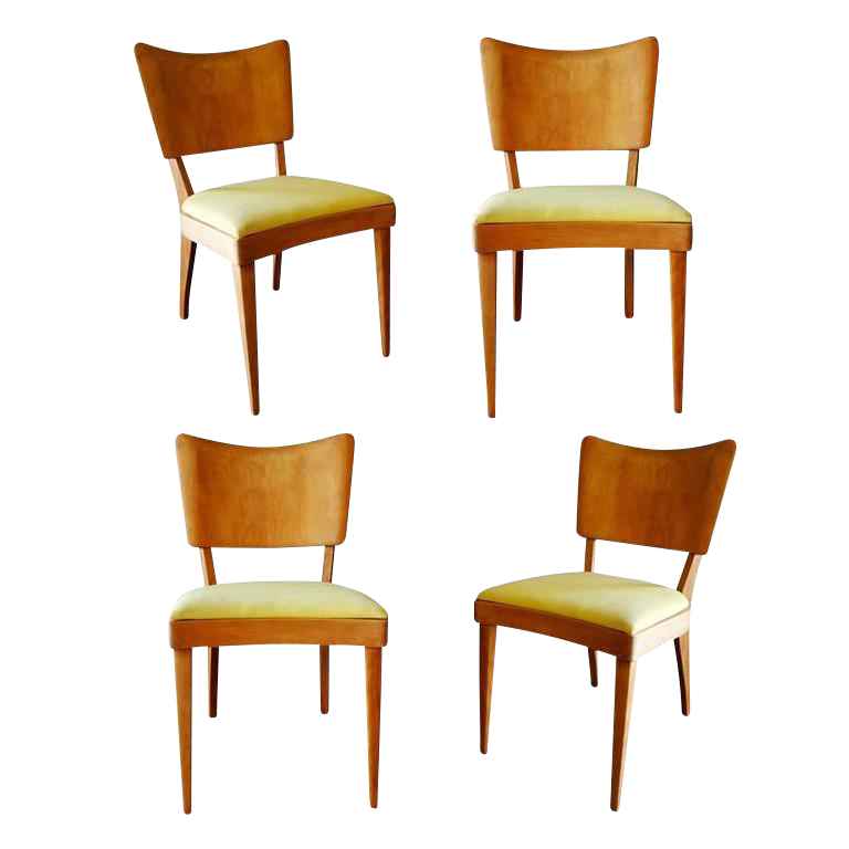 High End Heywood Wakefield Closed Stingray Dining Side Chairs Set