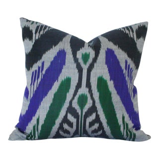 Contemporary Ikat Pillow For Sale