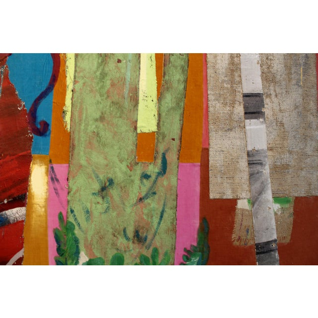 Jacques Lamy Multi-Media Abstract Painting For Sale In Dallas - Image 6 of 7