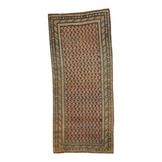 "Antique Caucasian Rug Runner - 3'10"" x 8'10"" For Sale"