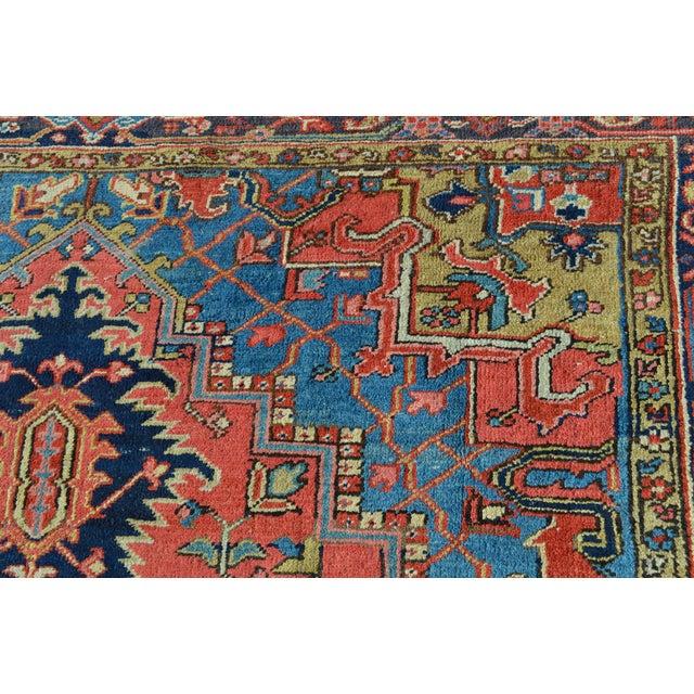 """Antique Persian Heriz Rug - 7'9"""" x 11'5"""" - Image 9 of 10"""