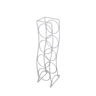 Mid-Century Modern White Wine Bottle Storage Rack