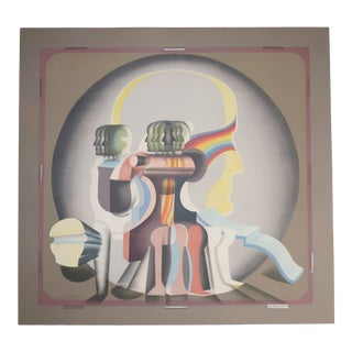 Arnold Belkin Untitled 'Head' Signed Lithograph, 1971 For Sale