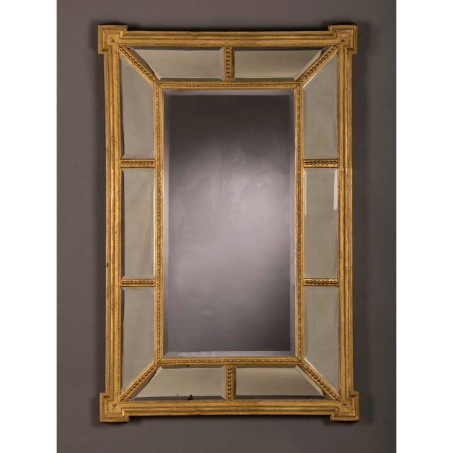 English Traditional A handsome gold leaf frame in the manner designed by famed English architect Robert Adam that encloses the mirror glass from England c. 1895 For Sale - Image 3 of 6