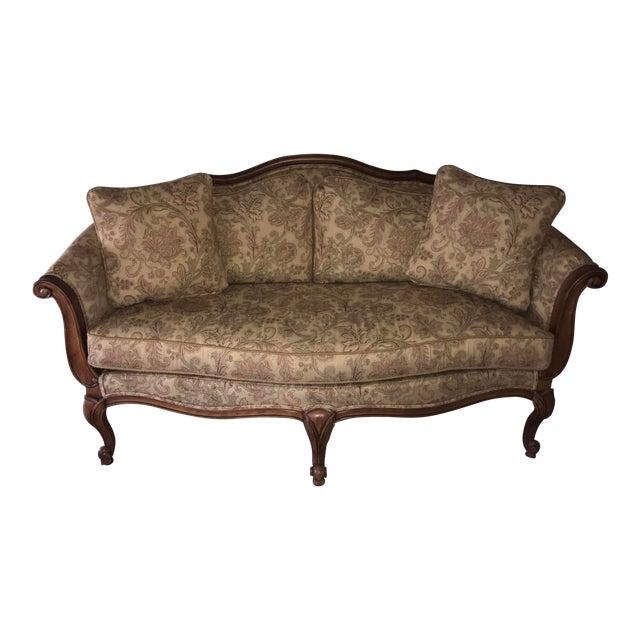 "Ethan Allen ""Evette"" Upholstered Settee - Image 1 of 8"