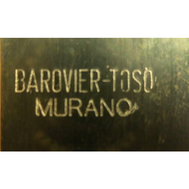 Barovier & Toso Italian Murano Glass Gold Photo Frame by Barovier E Toso For Sale - Image 4 of 5