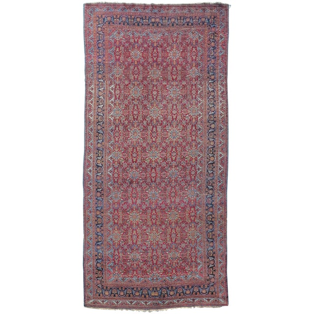Red Khorassan Rug - 7′ × 14′8″ For Sale