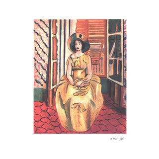 Henri Matisse, Yellow Dress, Lithograph For Sale