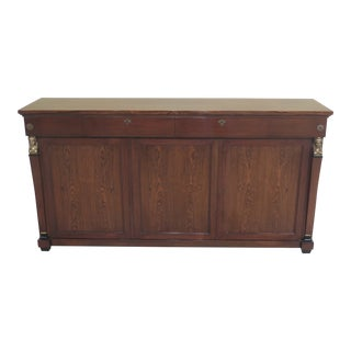 1950s Vintage Rosewood French Empire Style Sideboard For Sale