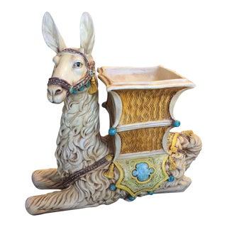 Vintage 1940s Llama Ceramic Planter For Sale