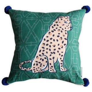 Boho Chic Leopard Pom Pom Pillow Preview