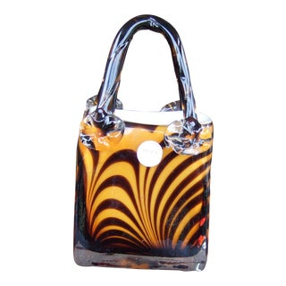 Murano-Style Art Glass Purse For Sale