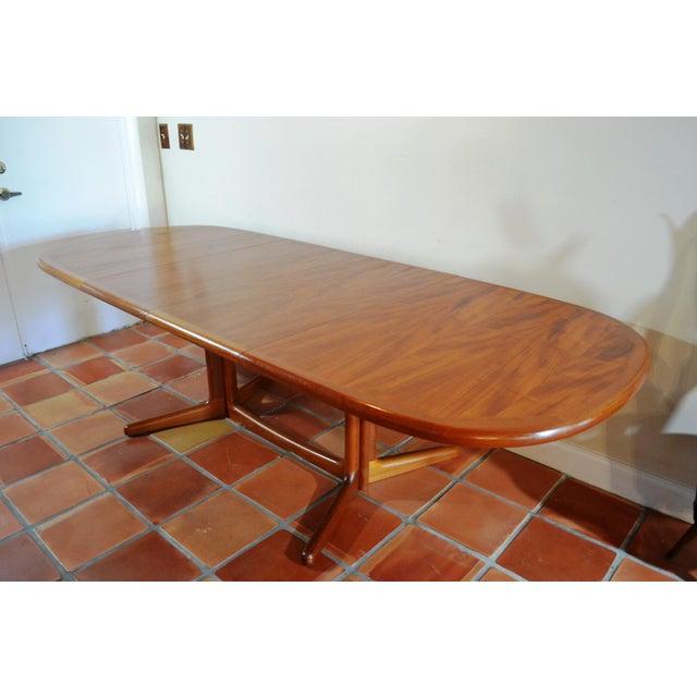 Mid-Century Modern E. Valentinsen Danish Teak Expandable Dining Table For Sale - Image 3 of 10