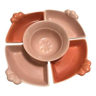 California Pottery Condiment Trays & Bowl