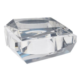 1960s Italian Prismatic Lucite Box For Sale