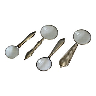 1960s Silver-Plate Magnifying Glasses-Set of 4 For Sale