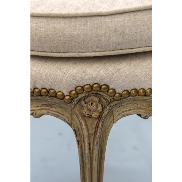 Wood Pair of Louis XV Style Painted Stools For Sale - Image 7 of 10