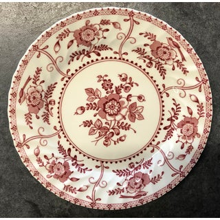 1970s Indies Red Transferware Salad Plates - Set of 7 Preview