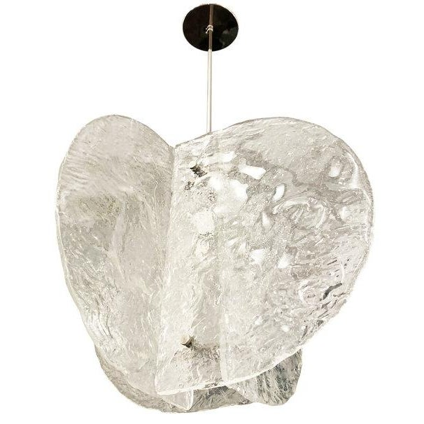 Italian Textured Murano Chandelier by Mazzega, Italy, 1960s For Sale - Image 3 of 8