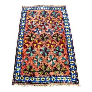 Vintage Turkish Anatolian Small Area Rug - 2′9″ × 4′7″