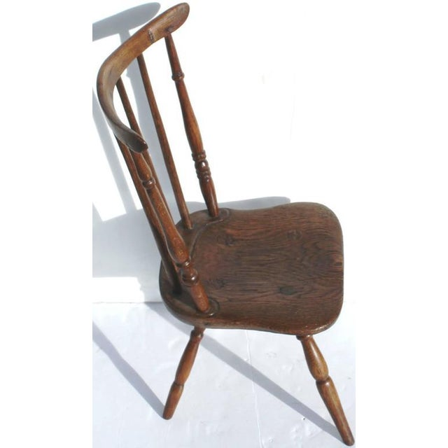 Early 19th Century Early and Rare 19th Century Rare Child's Windsor Chair For Sale - Image 5 of 10