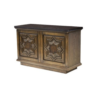 Spanish Style Cabinet in Cerused Oak with Slate Top