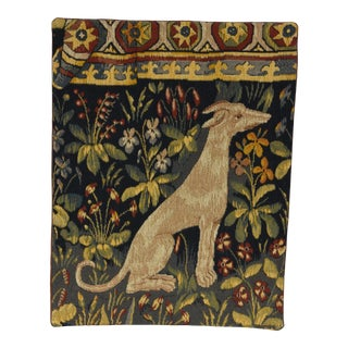 1980s Allan Waller Ltd. Point De l'Halluin Tapestries Lady and the Unicorn Panel #5 For Sale