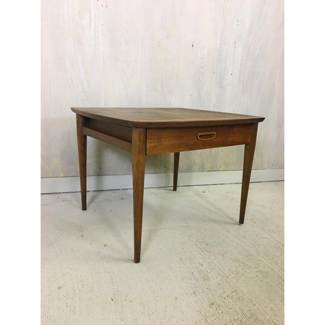 1970s Mid Century Lane Walnut Accent Table For Sale - Image 5 of 5