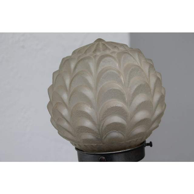 """Art Deco C1920's French Art Deco Frosted Female Figural Table Lamp """"Lalique""""? For Sale - Image 3 of 11"""