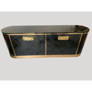 Mastercraft Malachite Lacquer and Brass Art Deco Sideboard Credenza Preview