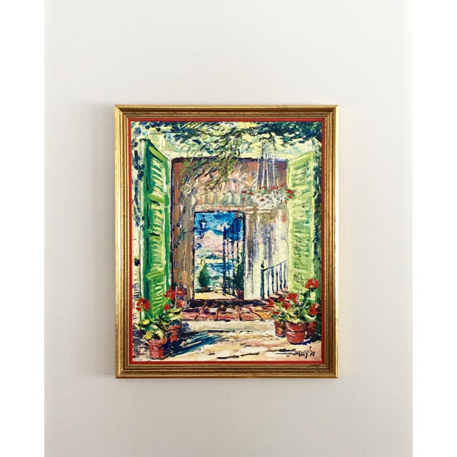 Original Spanish Courtyard Oil Painting For Sale - Image 12 of 12