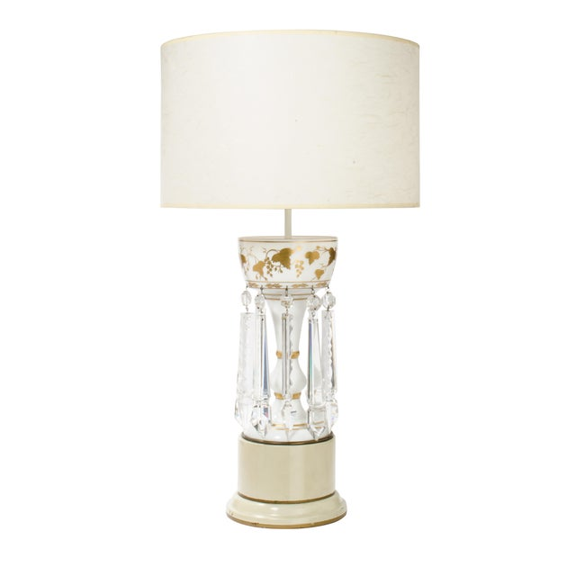 White Glass Double Cluster Table Lamp For Sale - Image 11 of 11